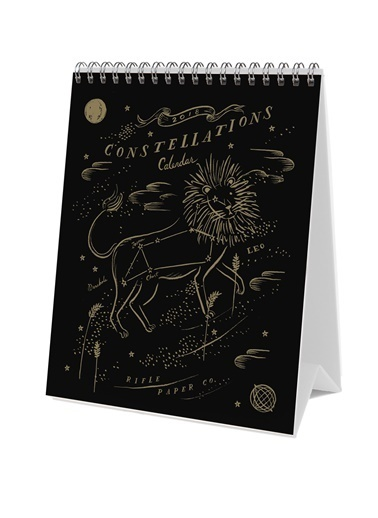 Rifle Paper Co. 2018 Constellations Masa Takvimi Renkli